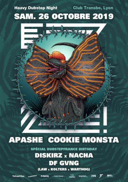 soiree-ez-dubstep-bass-lyon - transbordeur-totaalrez-apashe-cookie-monsta