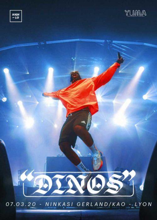 Dinos concert rap Lyon Ninkasi Gerland / Kao 2020 High-lo
