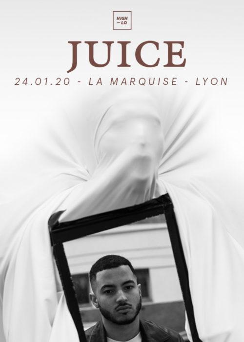 Juice en concert à La Marquise, Lyon. High-lo, rap.