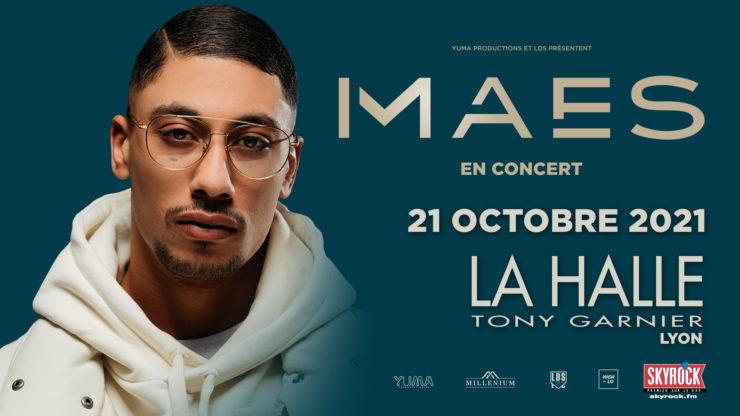 Maes en concert à Lyon Halle Tony Garnier 2021. Rap rappeur High-lo Totaal Rez