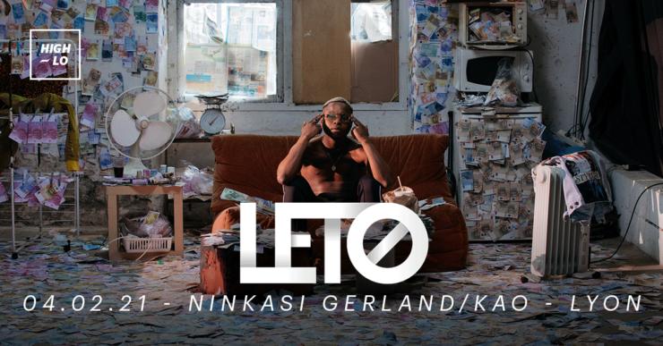 Leto en concert à Lyon, Ninkasi Kao le 4 février 2020. High-lo rap
