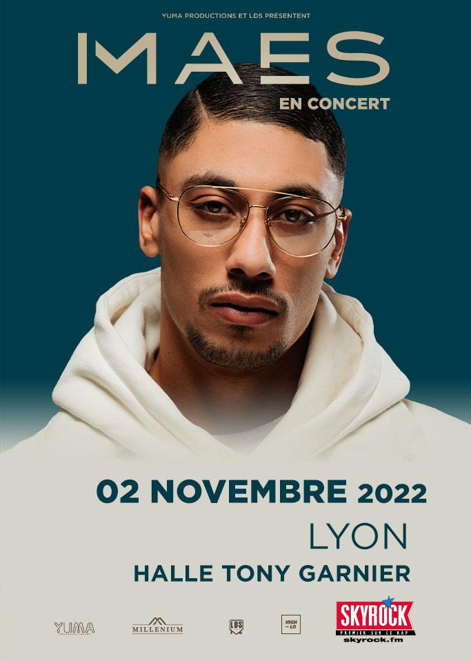 Maes en concert à Lyon 2022 Halle Tony Garnier High-lo Totaal Rez rap