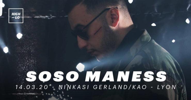 Soso Maness en concert au Ninkasi Kao le 13 mars 2020. High-lo Lyon rap
