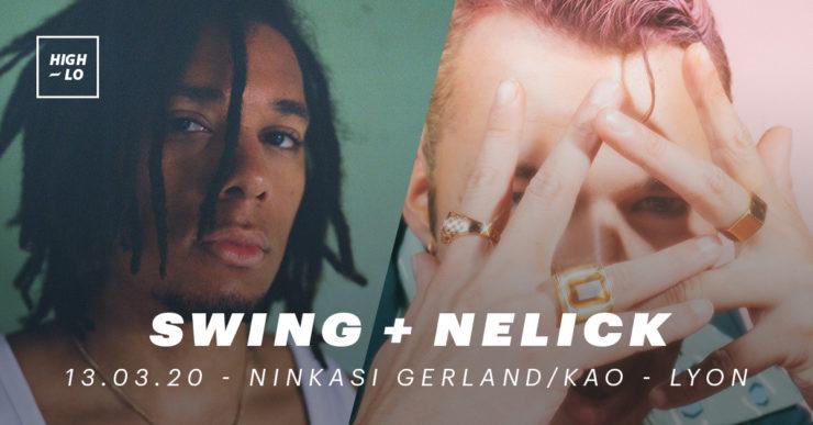 Swing et Nelick en concert au Ninkasi Kao Lyon 2020. High-lo