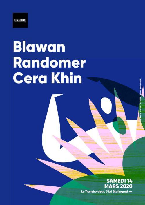 Soirée techno au Transbordeur le 14 mars 2020 avec Blawan, Randomer & Cera Khin. Encore Lyon