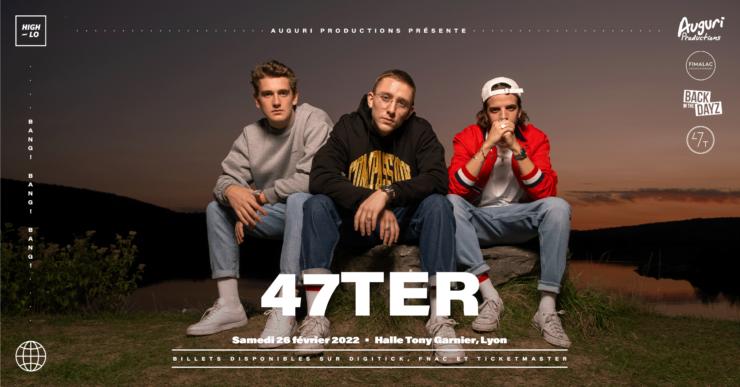 47TER en concert à Lyon Halle Tony Garnier 26 février 2022. High-lo rap Totaal Rez