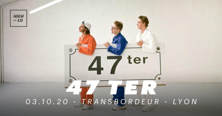 47 ter en concert au Transbordeur Lyon le 3 octobre 2020. Rap, high-lo Totaal Rez
