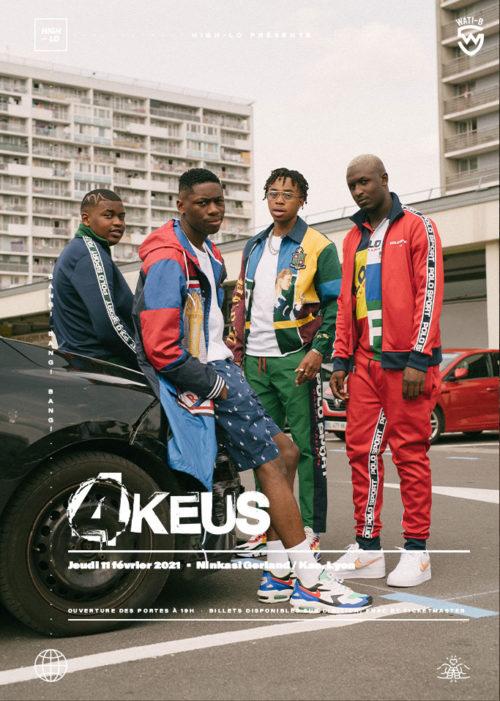 4Keus concert reap Lyon Ninkasi Gerland Kao février 2021. High-lo Totaal Rez