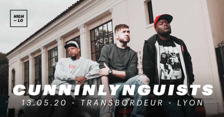 CunninLynguists en concert au Transbordeur le 13 mai 2020. Rap Hih hop High-lo