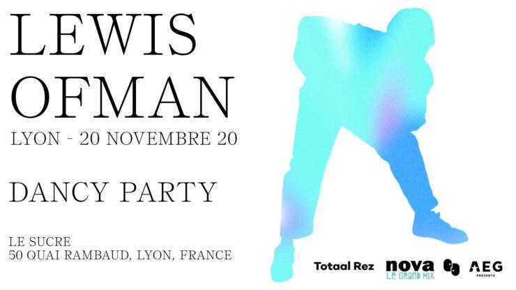 Lewis OfMan en concert à Lyon le Sucre 20 novembre 2020.