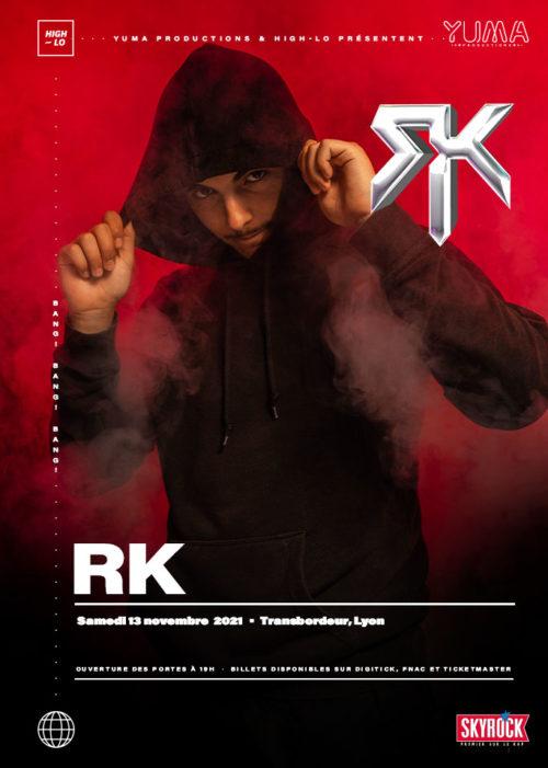 RK en concert à Lyon novembre 2021 Transbordeur rap High-lo Totaal Rez