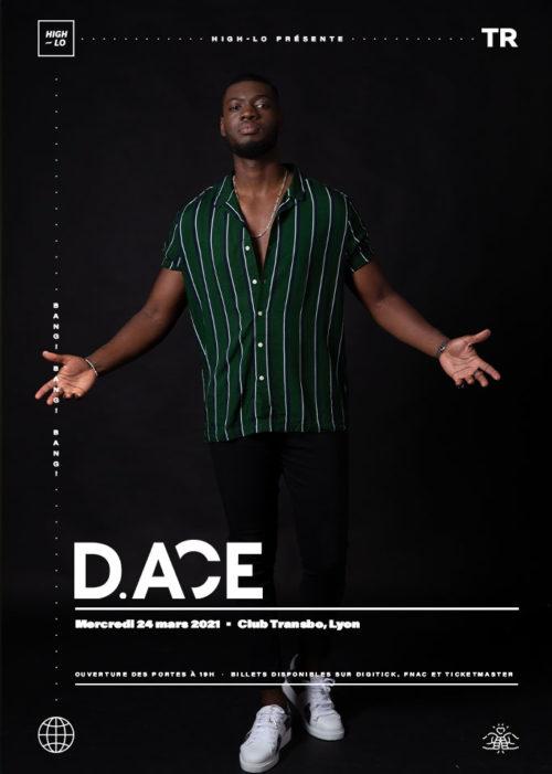 D.Ace en concert à Lyon Club transbo 24 mars 2021. Rap rappeur High-lo Totaal Rez