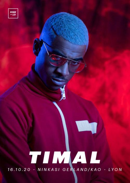 Timal en concert à Lyon Ninkasi Gerland Kao octobre 2020 High-lo rap Totaal Rez rappeur