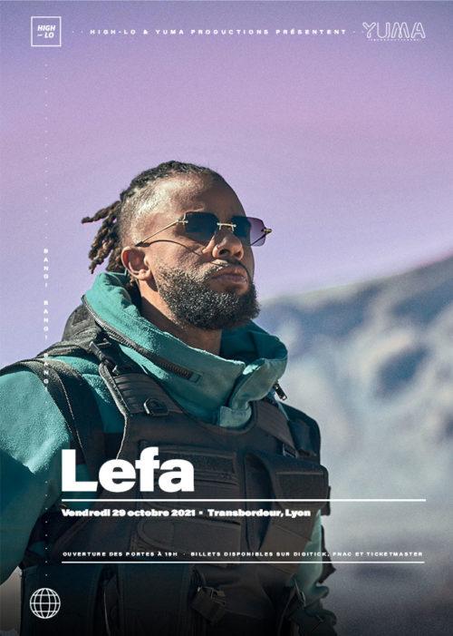 Lefa en concert à Lyon octobre 2021, High-lo rap Totaal Rez Transbordeur Villeurbanne