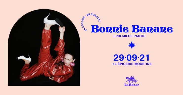 Bonnie Banane en concert à L'épicerie moderne Lyon septembre 2021 le bazar totaal rez