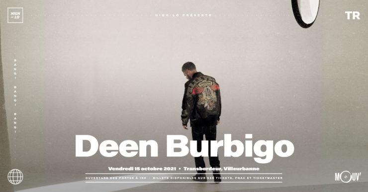 Deen Burbigo concert Lyon Transbordeur Villeurbanne octobre 2021 High-lo rap rappeur Totaal Rez