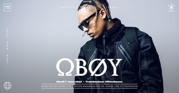 Oboy concert lyon mars 2022 Transbordeur Villeurbanne rap rappeur High-lo Totaal Rez
