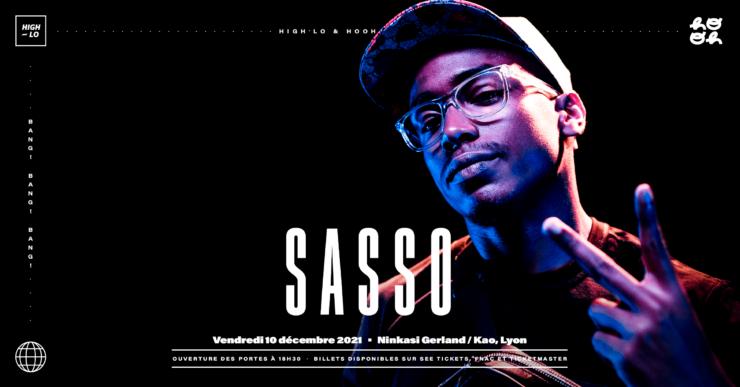Sasso en concert au Ninkasi Gerland / Kao décembre 2021 Lyon rap High-lo Lyon